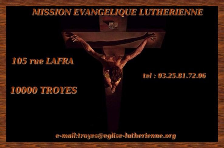mission lutherienne  troyenne de la rédemption Index du Forum