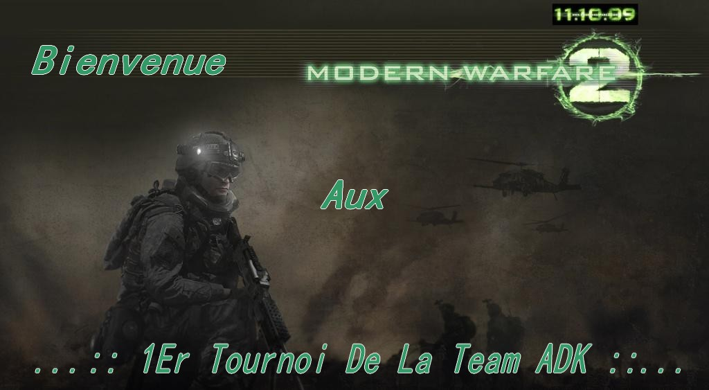 1er tournoi de la team adk Forum Index
