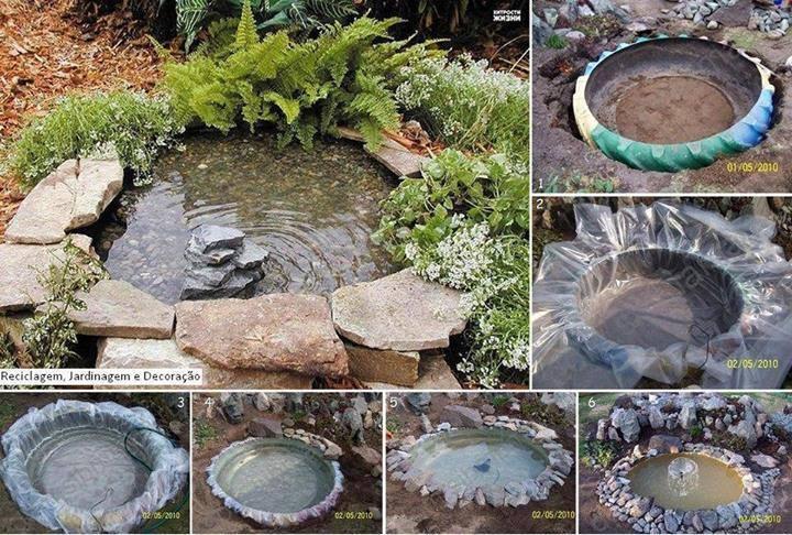 faire un bassin de jardin facile - Bassin de jardin