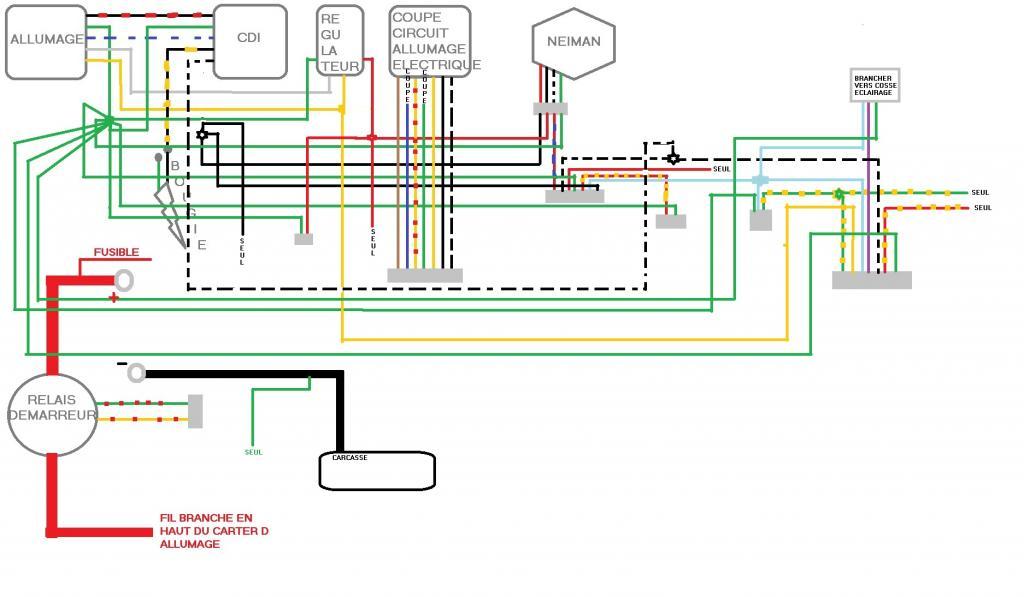 Schema Elettrico Quad 110 : Chinese quad faisceau électrique predator cc