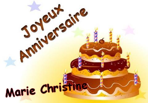Le Coin Du Cyber Anniversaire Marie Christine