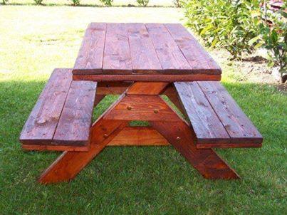 Les petites mains les meubles en palette for Plan de construction table de jardin en bois
