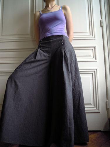 les f es tisseuses pantalon jupe culotte pont. Black Bedroom Furniture Sets. Home Design Ideas