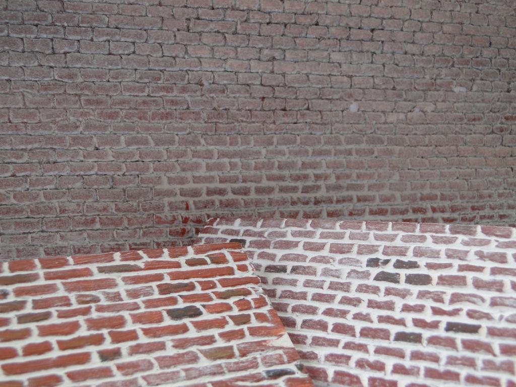 Peindre des joints de briques