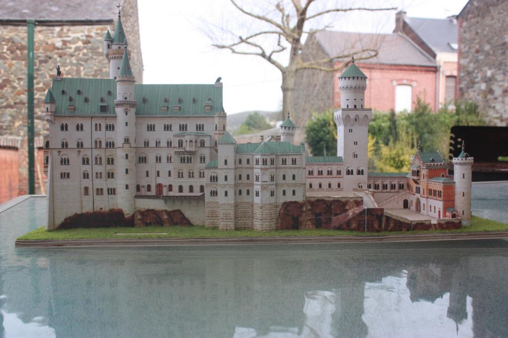 Château de Neuschwanstein  Allemagne  Bassin Maquette