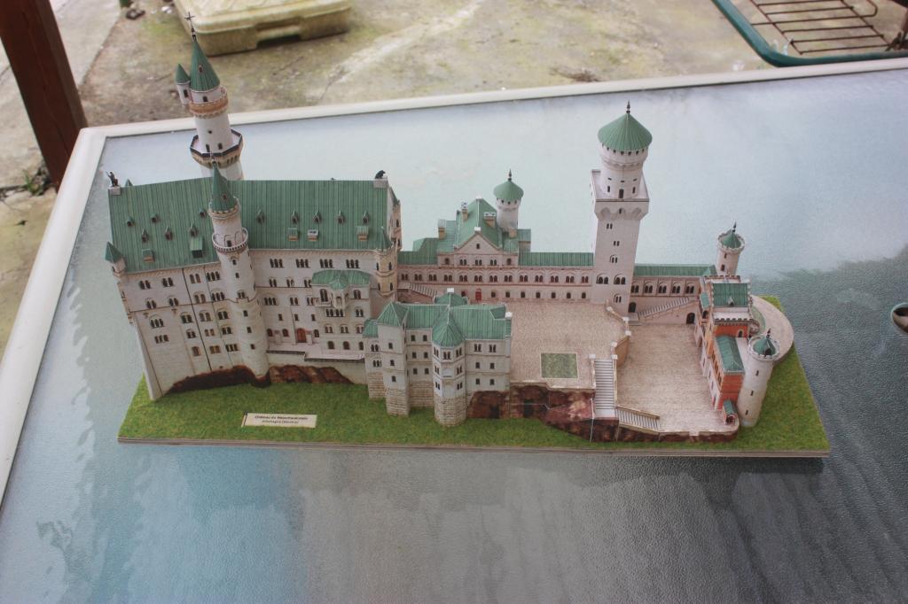 Maquette en carton : Château de Neuschwanstein, Allemagne Schreiber Bogen