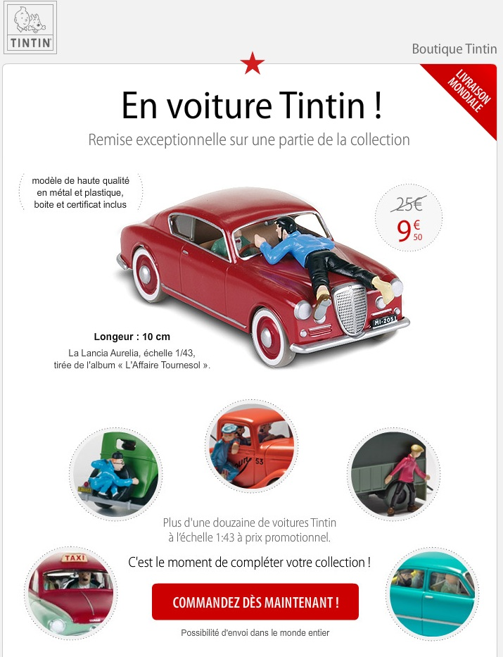 le forum tintin collection en voiture tintin n 2. Black Bedroom Furniture Sets. Home Design Ideas