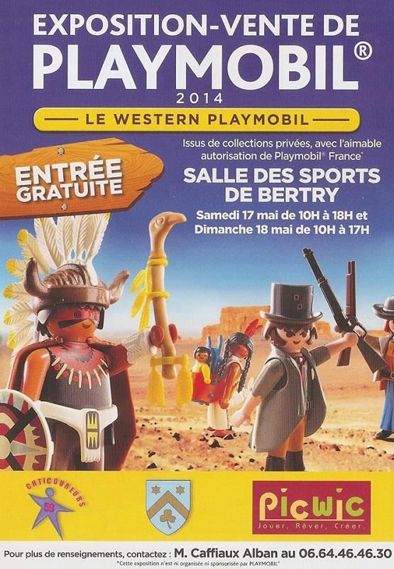 Exposition Playmobil de Bertry - Diorama Playmobil Les Jeux Préhistoriques Alizobil