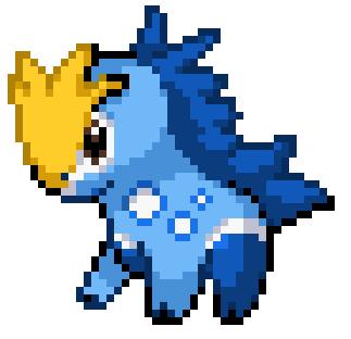 Pixel Art Pokemon Cheval De Feu