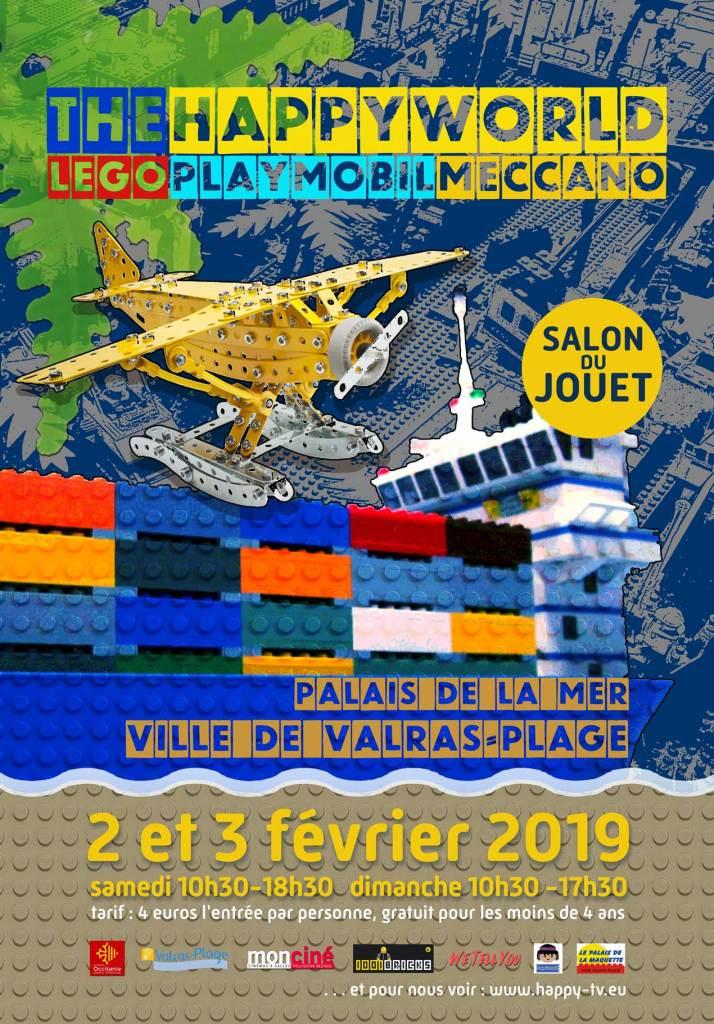 Salon du Jouet et Maquettisme, Valras Plage, 2/3 fevrier 2019 2019-valras-affiche-55a0d7e