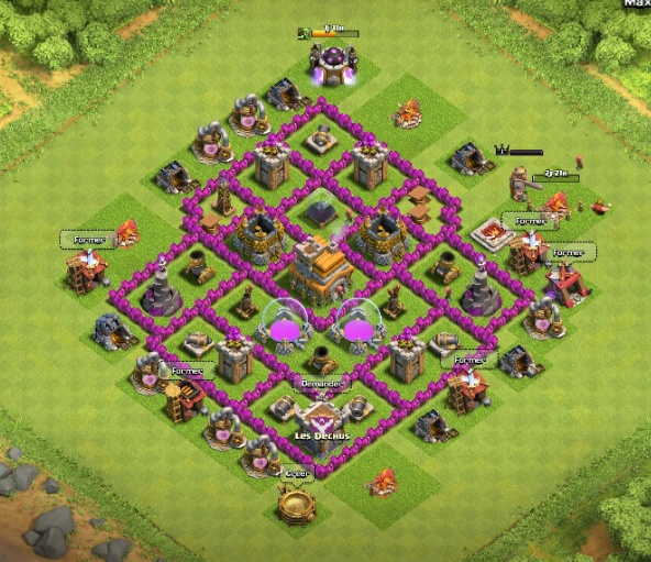 clash of clans les conqu rants meilleurs villages hdv 7. Black Bedroom Furniture Sets. Home Design Ideas