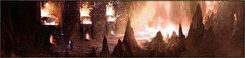 Réseau complexe de cavernes, enchevêtrées les unes dans les autres, au sol couvert de sable noir. Les Reines Dragons de Màr Tàralöm viennent pondre en ce lieu. L'Empreinte se déroule dans la plus grande des cavernes, sise au centre de toutes les autres.