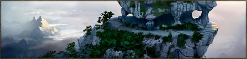 S'élevant à des hauteurs vertigineuses au dessus de la plaine, au sud du continent et à mi chemin entre Lòmëanor et le Delta, le Mont s'offre à quiconque a le courage de réaliser sa difficile ascension. La légende veut qu'à son sommet vive un Oracle capable de déceler le Destin des âmes mortelles venant le consulter.