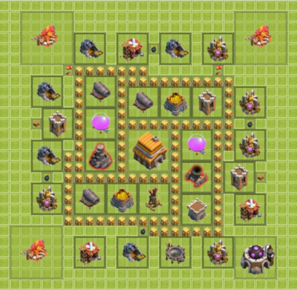 clash of clans les conqu rants meilleurs villages hdv 5. Black Bedroom Furniture Sets. Home Design Ideas