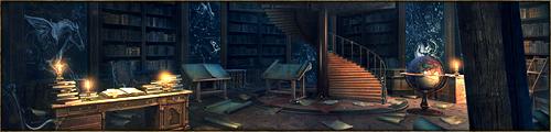 Altière tour à l'étrange architecture torsadée et au corps élancé, la Flèche rassemble la quasi totalité du savoir du Kaerl. Chacun de ses niveaux est dédié à un thème de connaissance bien précis, le Septième étant consacré plus particulièrement à l'étude de la magie.
