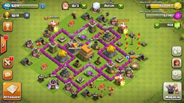 clash of clans les conqu rants meilleurs villages hdv 6. Black Bedroom Furniture Sets. Home Design Ideas