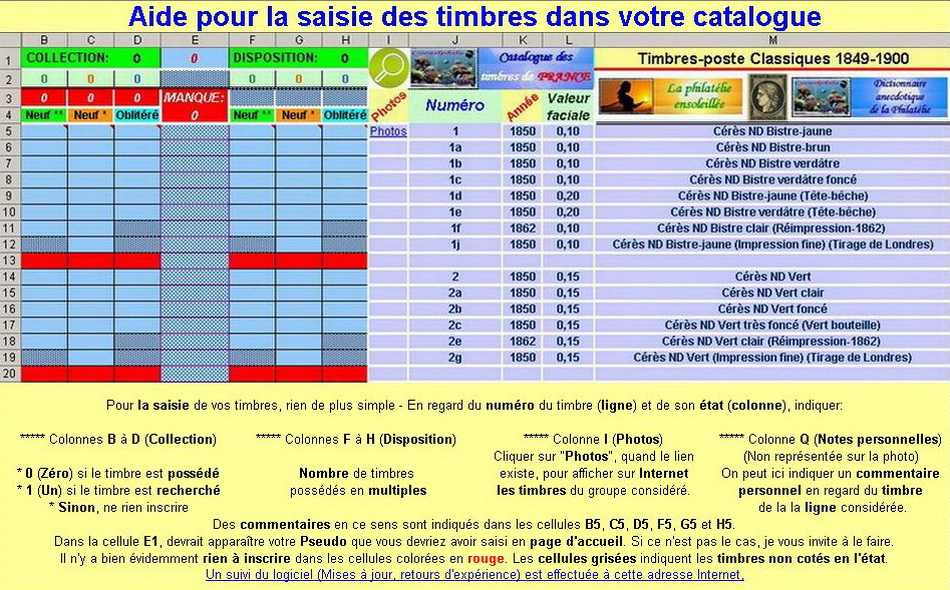 Catalogue informatique de gestion des timbres de France Aide-54b8b91