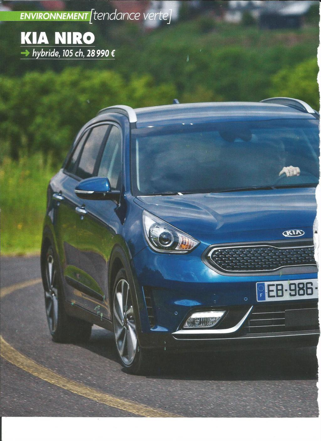 passion suv test kia niro version hybride a 28990 euros 0 malus et pas de bonus automoto. Black Bedroom Furniture Sets. Home Design Ideas