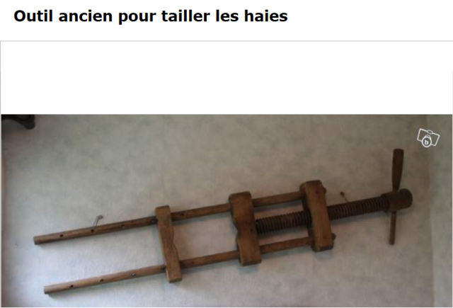 Outils anciens art populaire presse plesser les - Tailler les haies ...