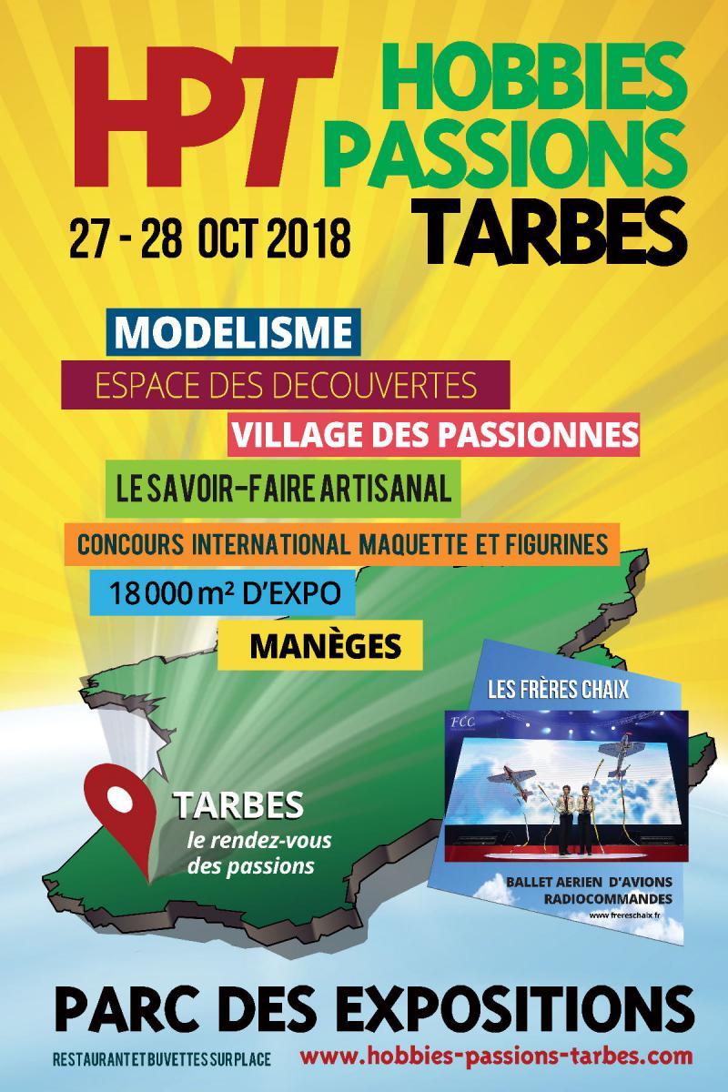 Salon HOBBIES PASSIONS TARBES 27 et 28 octobre 2018 2018-hobbies-pass...tarbes-1-55117df