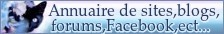 Annuaire de sites forums Youtube Facebook