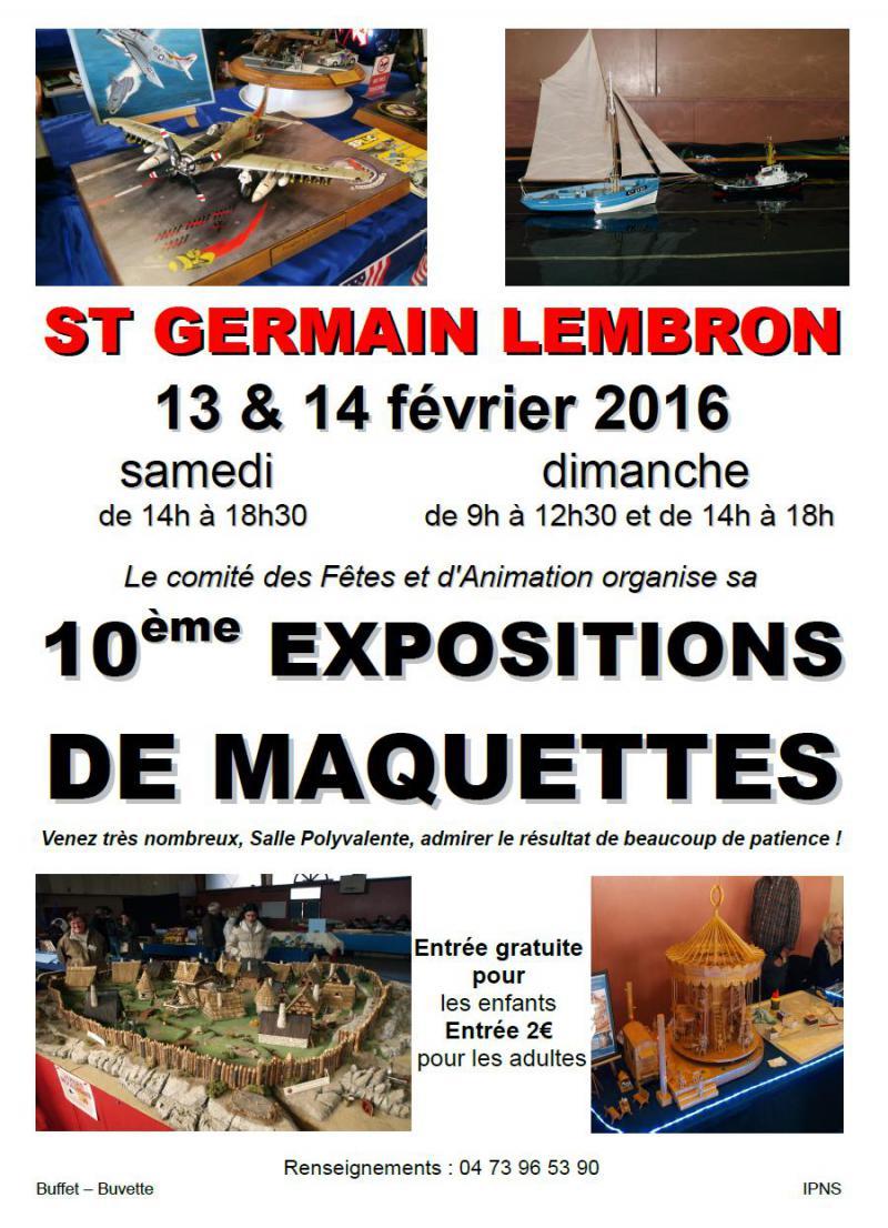 Exposition de Maquettes St-Germain Lembron 13-14 fevrier 2016 Stgermainlembron2016-4e2d6de