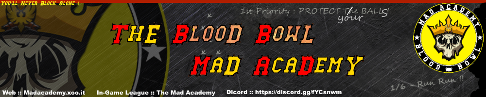 The blood bowl Mad AcademY Index du Forum