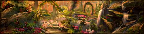Espace de détente et de rencontre, sis au coeur d'un écrin de verdure et de douceur, ce véritable paradis est protégé en toute saison par une haute verrière, permettant d'y admirer plantes et fleurs toute l'année. C'est également le refuge de facétieux dragons-fées.