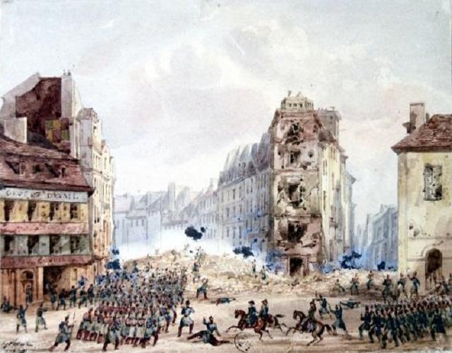 Une petite histoire par jour (La France Pittoresque) - Page 9 Gobaut-barricade-54b0b4e