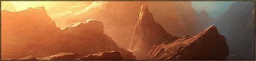 Série de hautes et étroites corniches, accrochées au flanc du volcan et surplombant le Kaerl, où les Dragons se rassemblent et viennent prendre leurs bains de soleil, en toute quiétude.