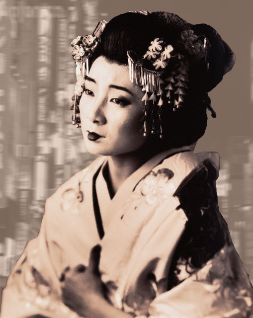 coiffure geisha japonaise. Black Bedroom Furniture Sets. Home Design Ideas