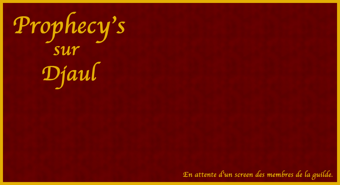 Prophecy's Index du Forum