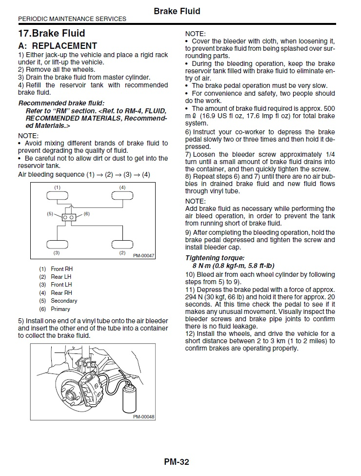 Subaru passion tuto purge liquide de frein sur legacy - Purger les radiateurs dans quel ordre ...