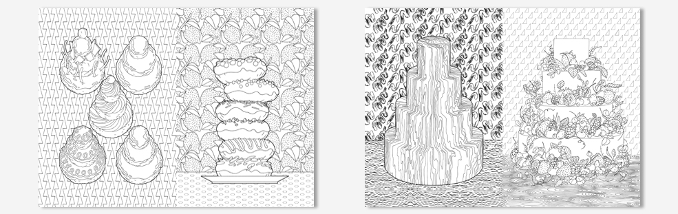 Coloriage Anti Stress Cupcake.Coloriages Anti Stress Art Therapie 100 Cupcakes A Colorier