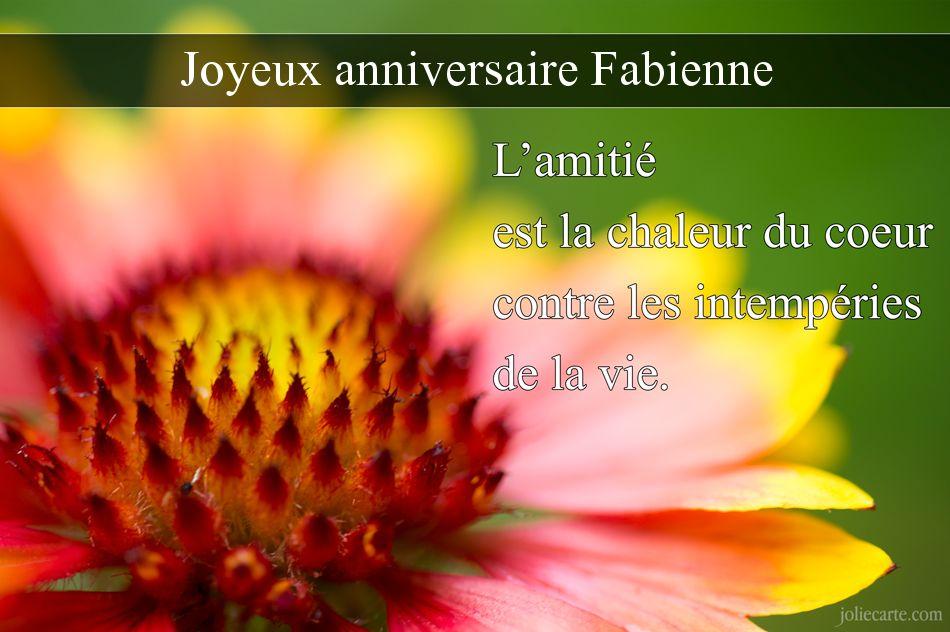 Chez Fabienne Et Christian Bon Anniversaire Faby