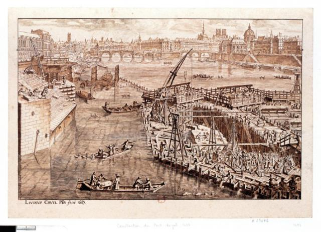 Une petite histoire par jour (La France Pittoresque) - Page 3 Paris-pontroyal-1687-53fd345