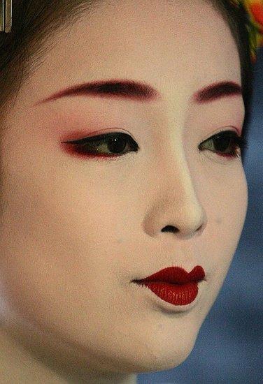 Le maquillage geisha séduit