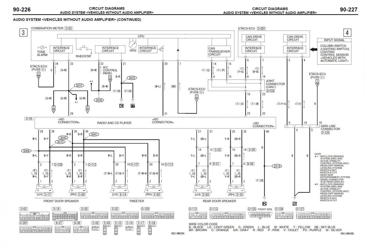 Forum Mitsubishi Outlander 4007 Ccrosser Ouvert Depuis 2007 Mmcs Wiring Diagram Voici Les Schmas Concernant Le Systme Audio Des Outly 2 Et Cousins Psa Sans Rockford Sous Forme Dimages