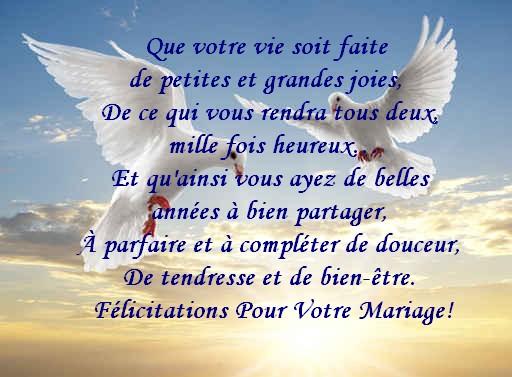 felicitations aux parents et beaucoup de bonheur aux maries - Texte De Felicitation De Mariage