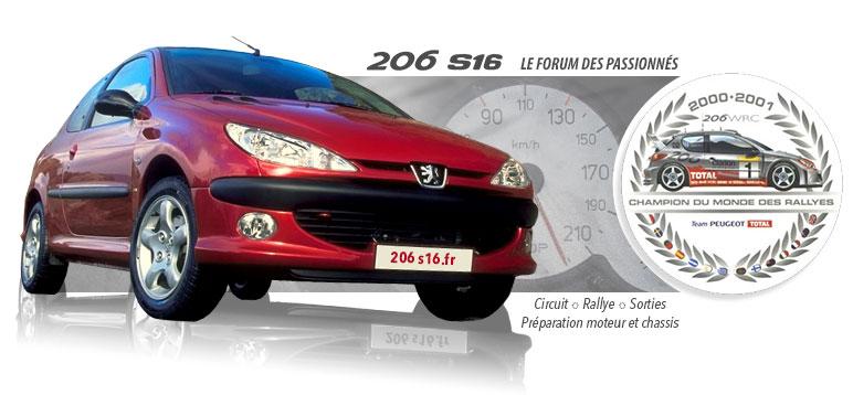 La Peugeot 206 s16 sous toutes les coutures Index du Forum