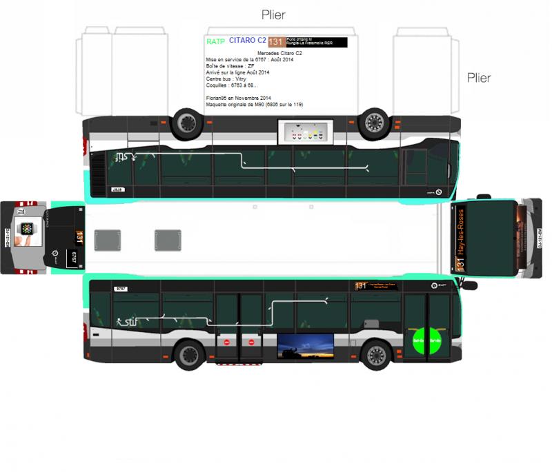 Les paperbus de florian95 vtrans forum - Dessiner un bus ...