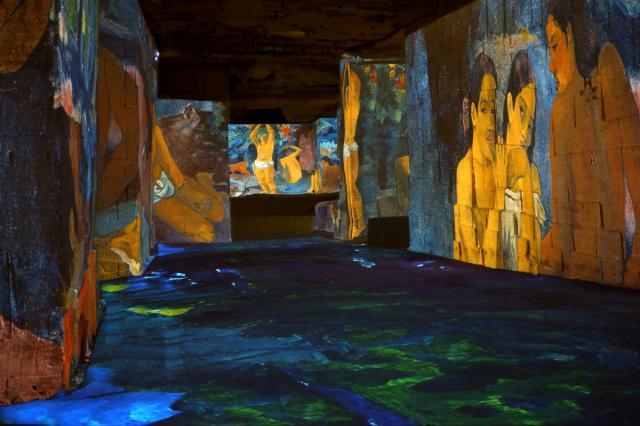 L'atelier des lumières fait le buzz avec Van Gogh Exposition_-gaugu...couleur--55d31e4