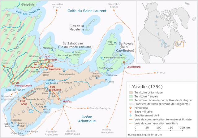 Une petite histoire par jour (La France Pittoresque) - Page 11 Acadie_1754-54dc1dc