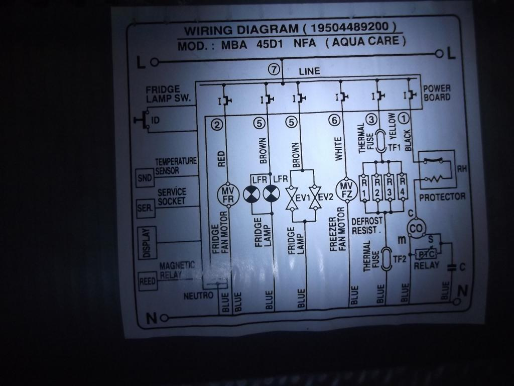 Teleservice forum d pannage electronique r solu - Schema electrique refrigerateur no frost ...