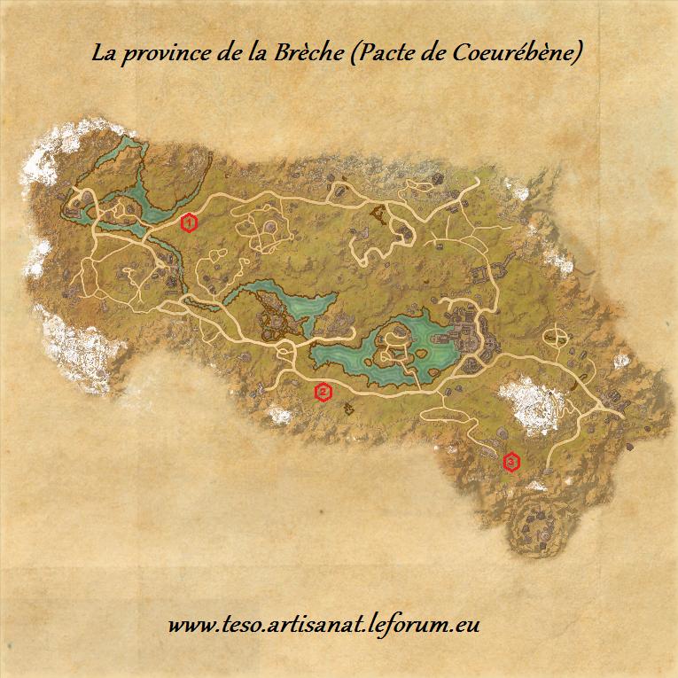 l 39 artisanat sur the elder scrolls online carte de la On teso compétences artisanat
