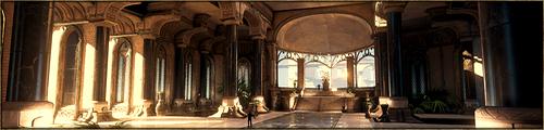 Imposante salle de forme rectangulaire, abritant le trône du Màr Menel, et servant également de salle commune à ses habitants. Elle abrite le plus souvent les festivités du Kaerl, tels que banquets ou cérémonies diverses.