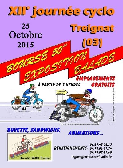 12 rassemblement cyclo de treignat le dimanche 25 octobre for Garage scooter ouvert le dimanche