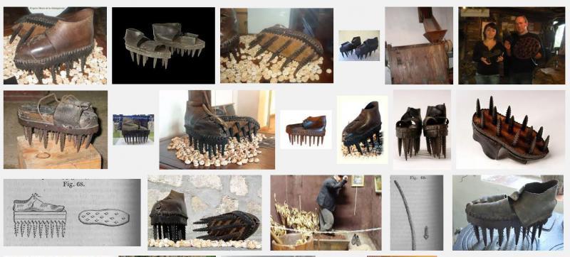 outils anciens art populaire chaussures ch taignes ou soles. Black Bedroom Furniture Sets. Home Design Ideas
