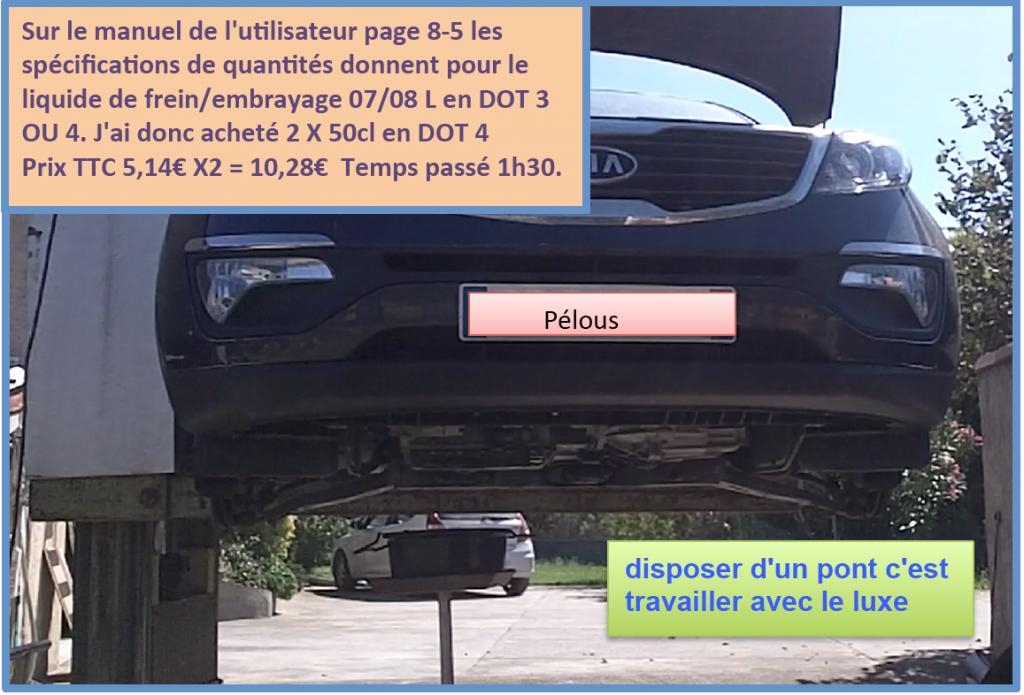 forum des kia sportage    remplacement liquide freins