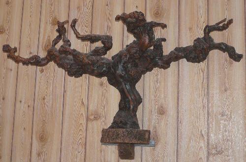 Les petites mains une souche de vigne pour d coration for Cep de vigne decoration
